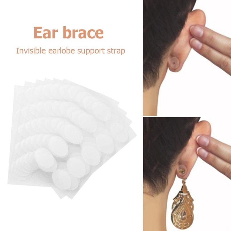Ear Protective Patch Lobe Support Tape For Heavy Earrings Stretched Ear Lobes Classic Colors And Simple Durable Design