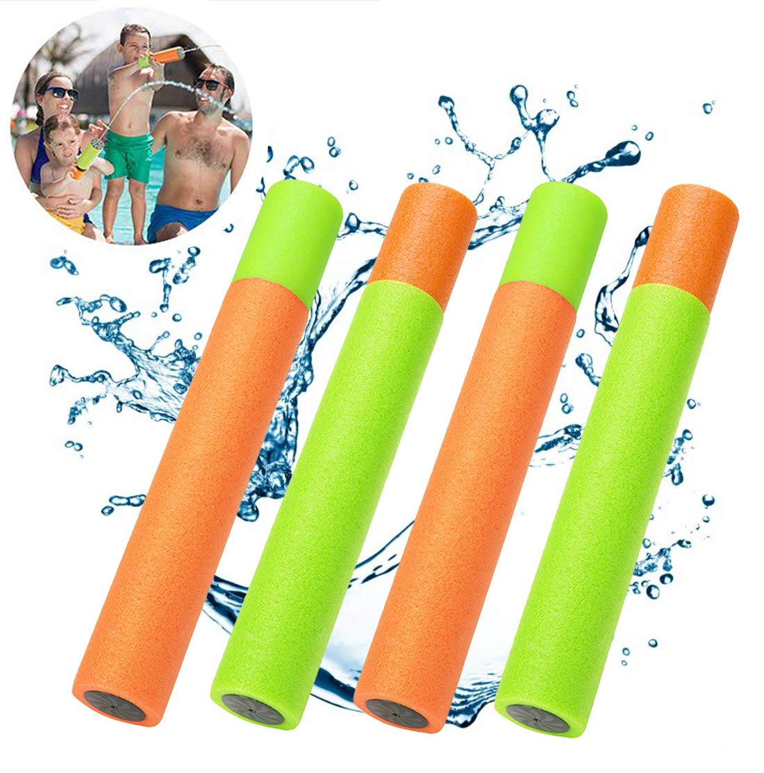 2PC Foam Water Gun Pool Accessories Children Summer Blaster Shooter Swimming Game Kids Outdoor Beach Sport Pool Water Game