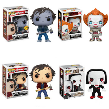 FUNKO POP The Shining Jack Torrance #456 Saw Billy # 52 Action Figure Toys Vinyl Figure Model Dolls for Kids Halloween Gifts 1