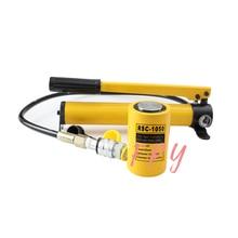 Short Type Hydraulic Cylinder RSC-1050 Hydraulic Lifting Jack with CP-180 Hydraulic Manual Pump 1pc 10t multi stage steps hydraulic cylinder rmc 101l