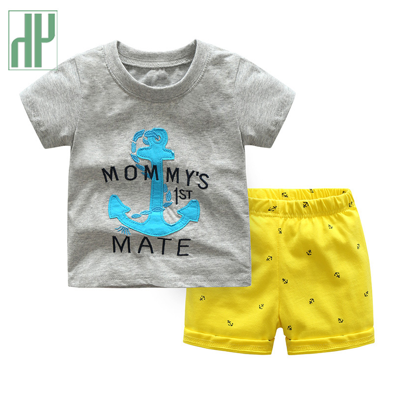 Children Baby Girl Set Summer Toddler Boy Clothes Sport Suits Short Sleeve Tshirt Two-piece Cotton Kids Infant Clothing Outfits