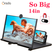 Orsda 14-inch 3d phone screen amplifier HD Eyes Protection Display Video  universal Screen Amplifier Support all smart phone 1