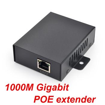 1 Port 100 1000M gigabit POE extender IEEE802 3af Ethernet Extender Repeater do kamery IP CCTV około 120 metrów (max) tanie i dobre opinie OUTMIX CN (pochodzenie) Switch POE