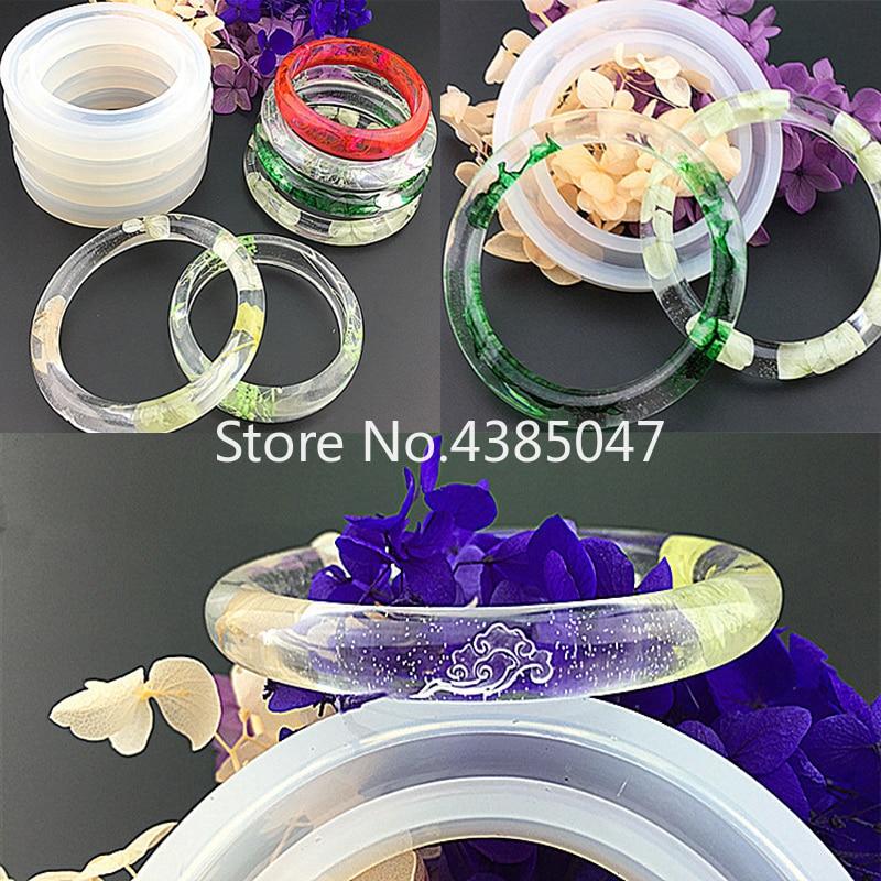 1PC Soft Silicone Jewerly Mould Epoxy Bracelet Bangle Mold Hand Resin Craft Jewelry Making Mold