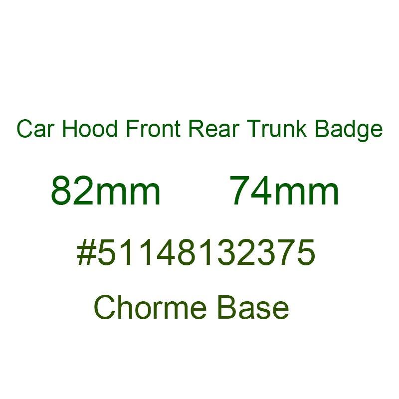 פחמן סיבי 74mm 82mm עבור BMW G01 F20 G30 F30 F31 E36 E39 E87 E60 E46 E91 X1 x3 X5 E53 לוגו קדמי הוד האחורי Trunk תג סמל