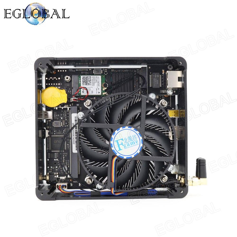 Eglobal микро компьютер Intel Xeon 1505M Core i9 9880H i7 9850H мощный игровой мини-ПК Windows Barebone Настольный NUC type-C AC Wifi