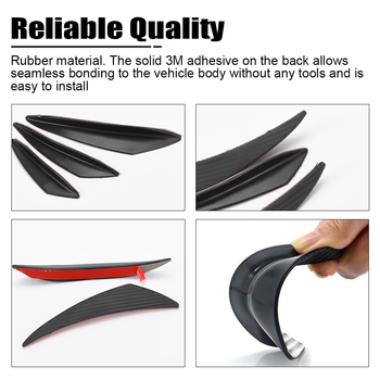 6Pcs/set Car Front Bumper Lip Splitter Fins Body Spoiler Kit Auto Bumper Stickers Decoration Accessories for Audi for BMW E36 image