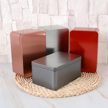 125g scatola di immagazzinaggio in metallo scatole di latta in ferro quadrato scatola di latta per tè generale scatola di latta per tè in metallo scatola di imballaggio per lattine in ferro