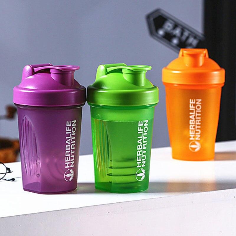 Spor Shaker şişe 400Ml peynir altı suyu Protein tozu karıştırma şişesi spor spor salonu Shaker açık taşınabilir plastik içecek benim şişe