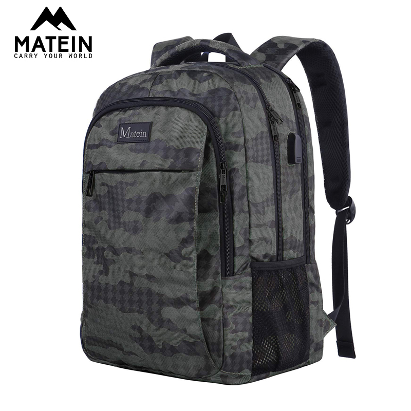 Matein Anti Theft  Shoulder Backpack For Men 15.6inch Men Laptop Backpack Causal School Boys Bags Business Travel Male Mochilas