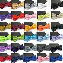 Laços de casamento cores sólidas, gravatas de borboleta para casamento, cores sólidas, para crianças, formal e colorido, 35 cores