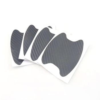 4pcs/lot car carbon fiber door handle anti-scratch sticker for Mitsubishi ASX Outlander Lancer Evolution Pajero Eclipse image