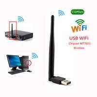 Nuevo 150Mbps Ralink 7601 tarjeta de red inalámbrica Mini USB 3,0 WiFi adaptador antena PC LAN WiFi receptor Dongle 802,11 b/g/n