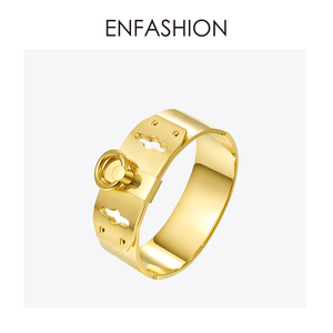 Image 5 - Enfashion Jewelry Circle Ring Wide Cuff Bracelet Noeud armband Gold color Bangle Bracelet For Women Bracelets Manchette Bangles