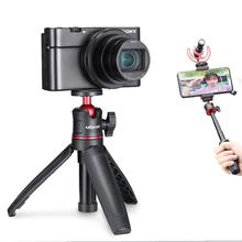 Ulanzi MT-08 DSLR SLR telefon Vlog statyw zimny uchwyt na telefon do mikrofonu LED Light Mini statyw do Sony A6400 A6300 tanie tanio SMARTPHONES System Kamery lustra CN (pochodzenie) Mini statyw Lekki Z tworzywa sztucznego 270mm 150mm