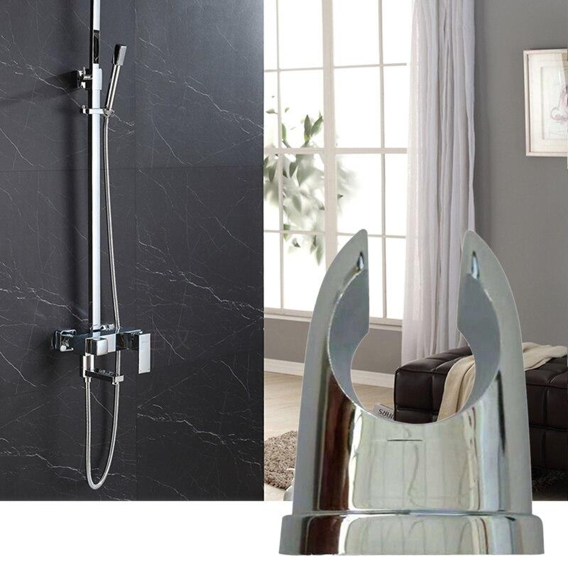 1 Pc Bathroom Shower Head Holder Chrome Base Holder Adjustable Shower Support Wall Mounted Pipe Head Support Bracket Shower