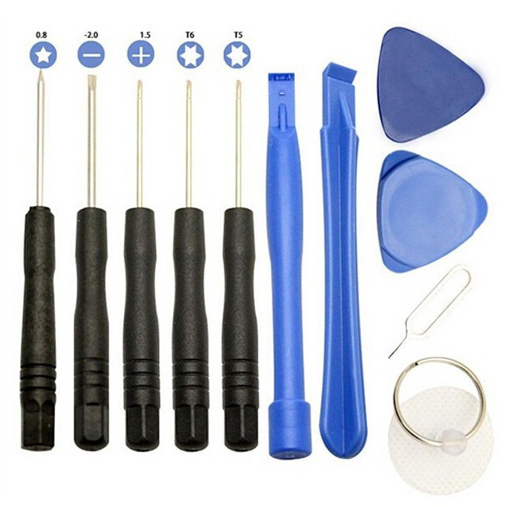 Professional 11 in 1 Cell Phones Opening Pry Repair Tool Kits Smartphone Screwdrivers Tool Set For iPhone Samsung HTC HUAWEI(China)