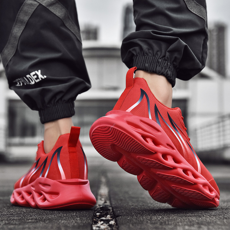 Men's Running Shoes Outdoor Ultra Light Sports Shoes Blade Run Sneakers Breathable Mesh Knitted Sock Shoes Jogging Walking Male