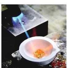 100g High Temperature Quartz Silica Melting Crucible Dish Bowl Pot Casting for Gold Silver Metal- White