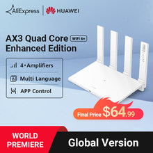 【World Premiere】HUAWEI WiFi AX3 Quad Core Enhanced Edition 4* Amplifiers WiFi 6+ Router 3000Mbps VPN 2.4GHz & 5GHz Mesh Repeater