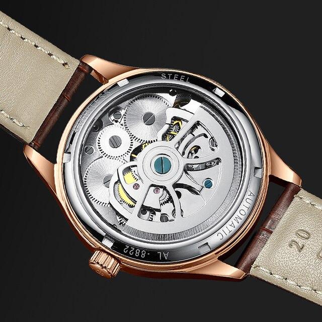 AILANG Original design watch men's double flywheel automatic mechanical watch fashion casual business men's clock Original 5