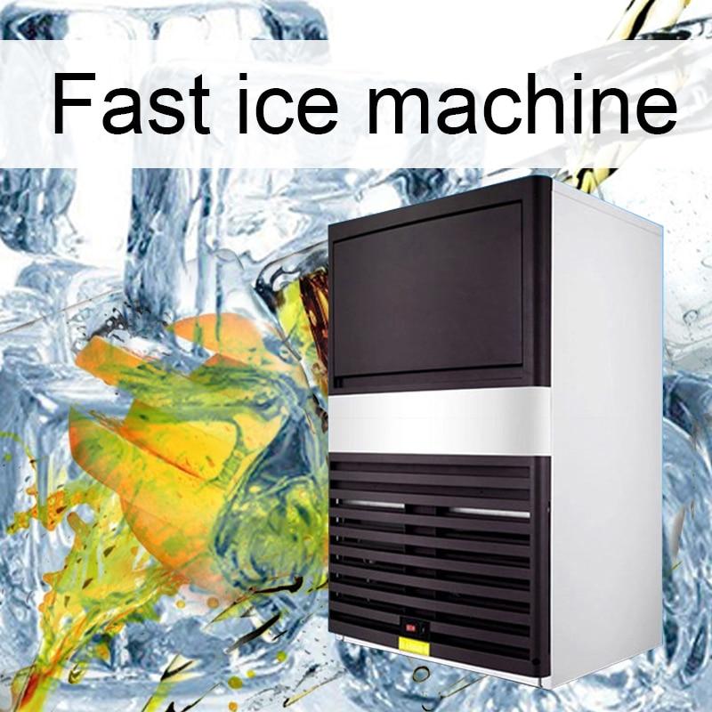 220V/350W Commercial Large Ice Machine Milk Tea Shop Cafe Ice Cube Machine Small Household Mini Automatic Ice Machine