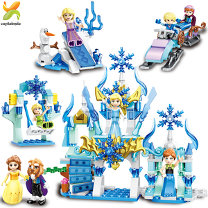 Image 3 - Princess Girls Friends Doll Cycling Scooter Team Figures Series Building Blocks Girl Toys For Children Gift