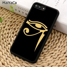 MaiYaCa Gold Eye of Horus Phone Case For iPhone X XR XS 11 Pro MAX 5 6 7 8 Plus Samsung Galaxy S5 S6 S7 S8 S9 S10(China)