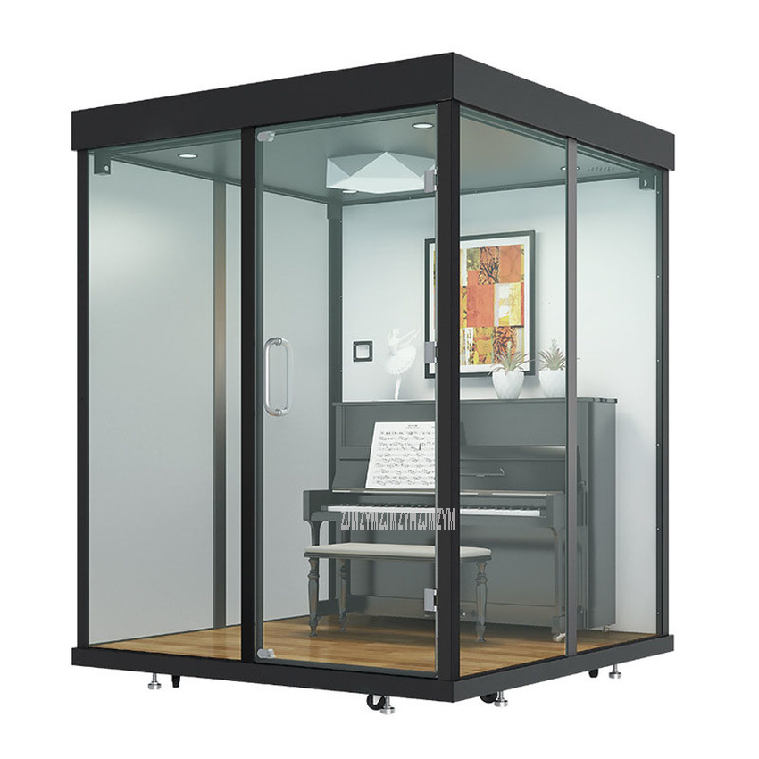 2.2*2.4m Mobile Conference Office Soundproof Telephone Booth Movable Live Video Room Musical Instruments Training Room