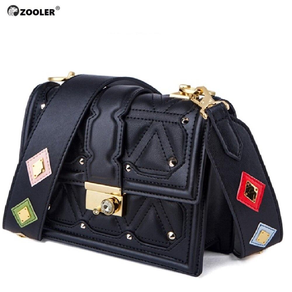 ZOOLER luksusowe torebki damskie torby projektant torby dla kobiet 2019 skórzane torby listonoszki kobieta modna torebka lady # GH216 w Torebki na ramię od Bagaże i torby na  Grupa 1