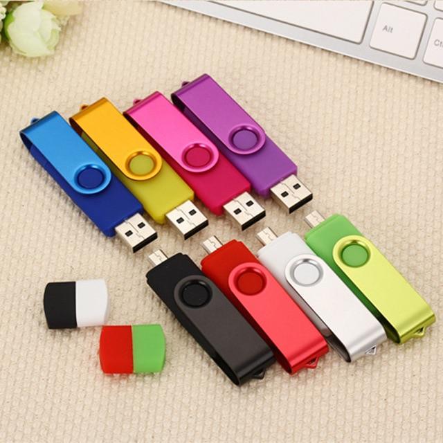 OTG USB Flash Drive 128gb 64gb 32gb Pen Drive 8gb 16gb 4GB USB 2.0 Pendrive USB Stick Flash Drive For Android Smartphone