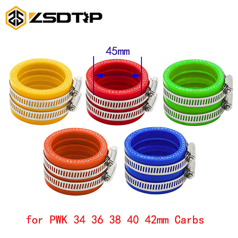 ZSDTRP 45mm Motorcycle Carburetor Rubber Adapter Inlet Intake Pipe Dirt Bike For <font><b>PWK</b></font> <font><b>34MM</b></font> 36MM 38MM 40MM 42MM image