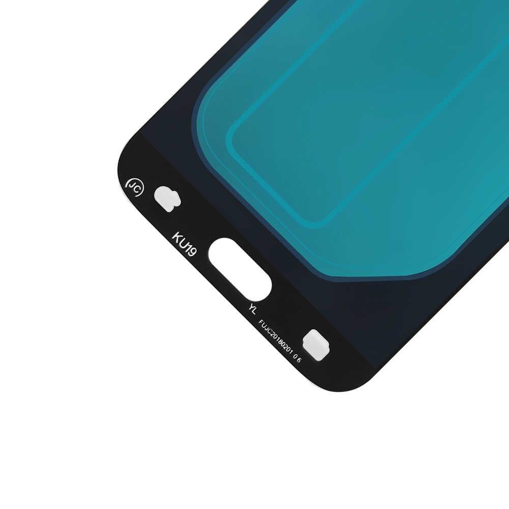 بديل مجمع شاشة تعمل باللمس شاشة عرض LCD J730FM/DS مختبر عام 100% سوبر Amoled لسامسونج غالاكسي J7 برو 2017 J730 SM-J730F