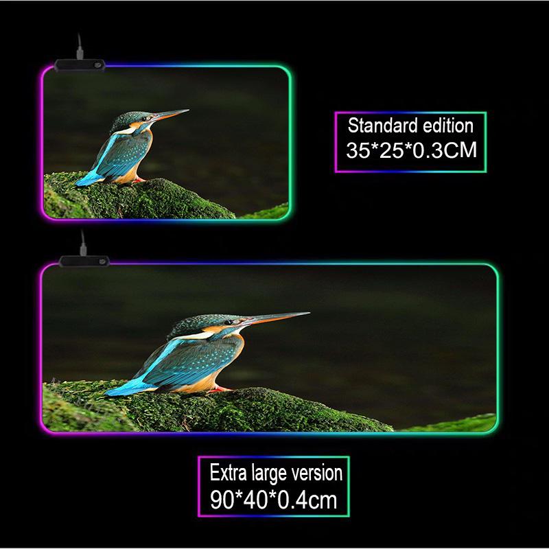 Mairuige животное Бирюзовая птица большой rgb игровой коврик