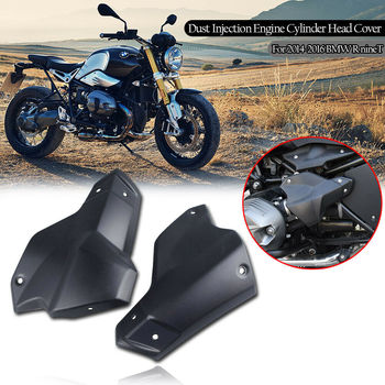 motoo for bmw r1200 r nine t ninet 2014 2015 2016 2017 2018 motorcycle accessories engine protective guard crash bar protector Motorcycle Dust Injection Engine Cylinder Head Guard Cover Protector Matte Black For BMW R NINET R9T R 9 T 2013-2016 2015 2016