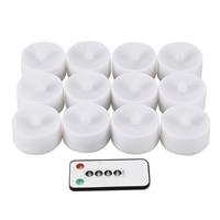 12 pçs controle remoto led velas pacote de 6 branco quente led flameless velas a pilhas dança chama casa chá luz|  -
