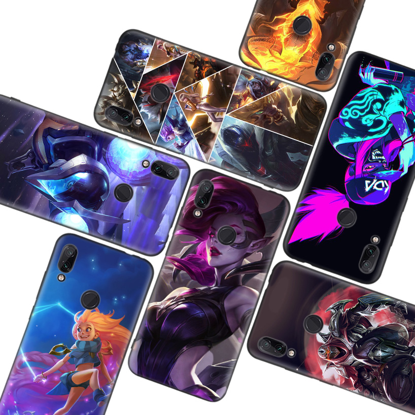 League of legends LOL Akali Black Case for Xiaomi Redmi Note 8T 9S 8 8A 7 7A 6 6A K20 K30 Pro S2 Mi 10 CC 9 8 Lite Phone Coque image