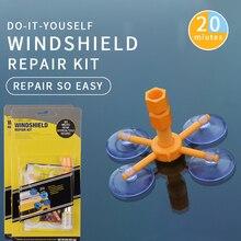 Car Windshield Repair Kit Quick Fix Car Cracked Glass Windscreen Repair Kit Resin Sealer DIY Auto Window Screen Polishing Tool