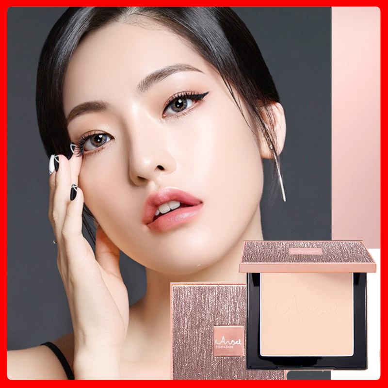 CF118 Oil Control Pressed Powder Concealer Makeup Setting Powder Moisturizing Brightening Face Make Up Compact Powder Cosmetic
