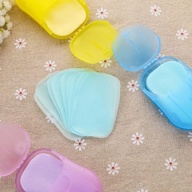 Soap Paper Hand Sanitizer Jabon En Laminas Anti Bacterial Skincare Handgel Alcool Gel Desinfectie Portable Travel Flowers Sheets 1