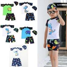 Swimwear Bathing-Suit Toddler Enfant Fille Baby-Boys 3PCS Outfits Vetement Kid