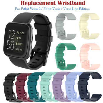 Classic Strap For Fitbit Versa 2 Silicone Adjustable Replacement Fitness Wristband For Fitbit Versa/ Versa Lite/ Versa 2 Band фото