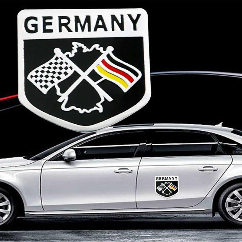 Deutsch Mobil Stiker Logam 3D Stiker Grille Bumper Jendela Dekorasi Tubuh Bendera Jerman Badge Emblem
