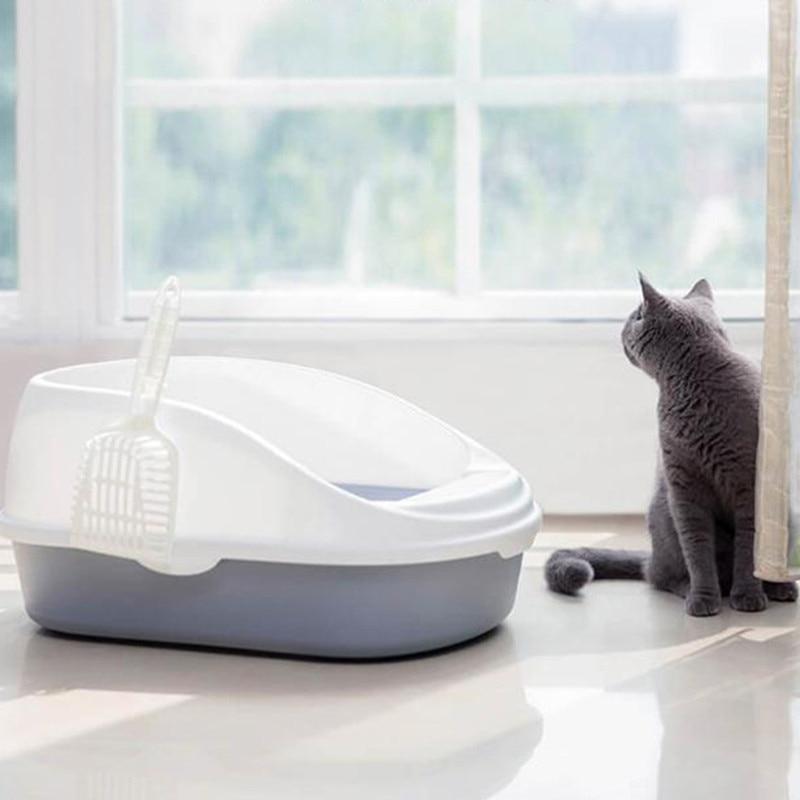 Оригинальная портативная миска для кошачьего туалета, унитаз, большой средний размер, тренировочная песочница для кошек с совком для домашних животных, Kitty