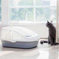 Original Portable Cat Litter Bowl Toilet Bedpans Large Middle Size Cat Excrement Training Sand Box With Scoop For Pets Kitty