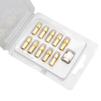 Pinkman Mini wiertarka mosiężna tuleja zaciskowa do elektronarzędzi narzędzie obrotowe 0 5-3 2mm mosiądz i nakrętka do dremel wiertarka akcesoria tanie i dobre opinie Maszyny do obróbki drewna