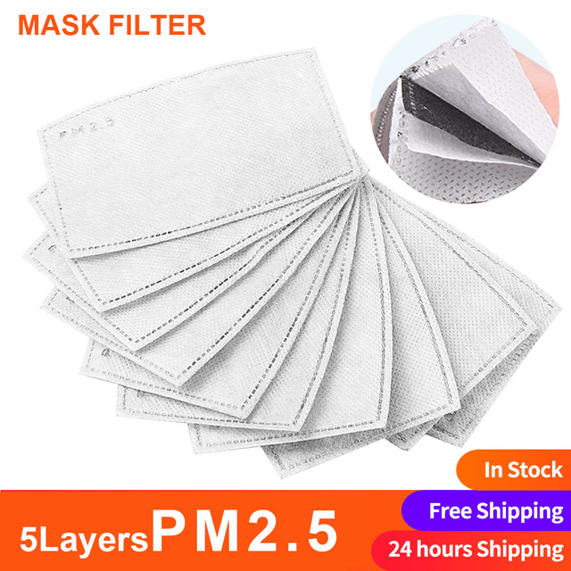 Cotton PM2.5 Mask Filter Anti Dust Mask Protective Activated Carbon Windproof Mouth Masker Bacteria Proof Flu Face Masks Care