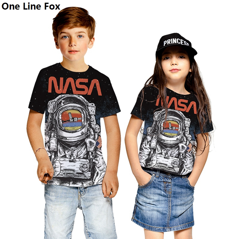 Fox Kid/'s T-Shirt Children Boys Girls Unisex Top
