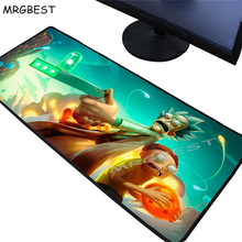MRGBEST Rick and Morty Anime Large PC Speed Mouse Pad Gamer Lock Edge Keyboard Mat Gaming Desk Mousepad for CS GO LOL DOTA XXL