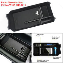 цена на Auto Center Console Armrest Storage Box Tray Fit for Mercedes-Benz C Class Container Tray Organizer Wholesale CSV